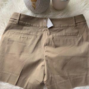 Ann Taylor chino khaki shorts new w tags sz 6p